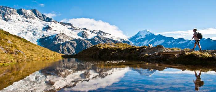 man on mountain NZ