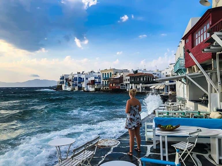 Girl in Mykonos, Greece
