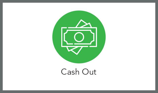 Cash out FAQ tile
