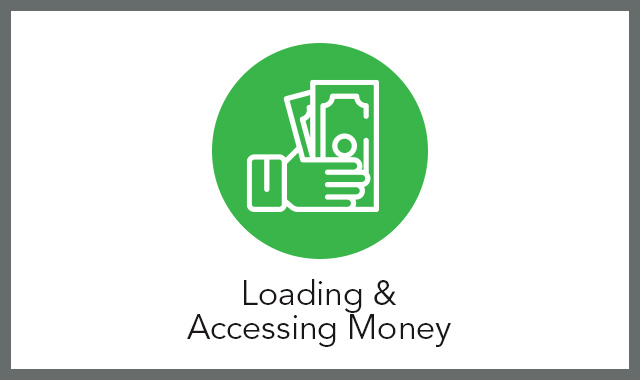 Loading and Accessing Money FAQ tile