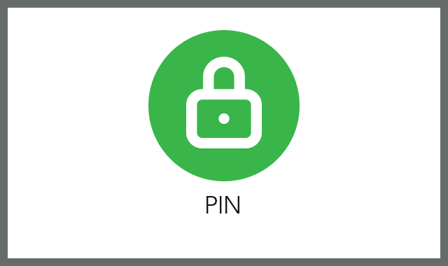 PIN FAQ tile