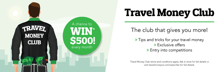 Travel Money Club banner