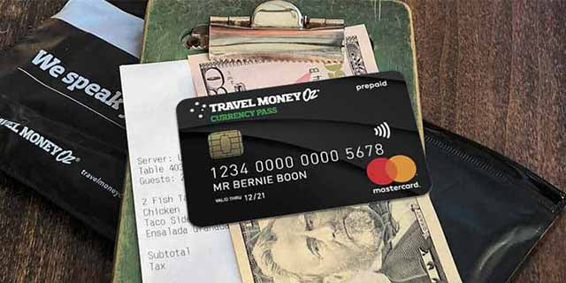 Using currency pass and cash to pay bill