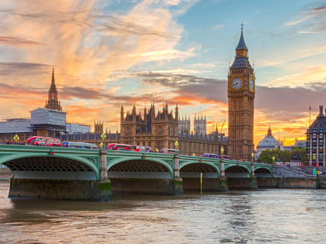 View of Big Ben and Palace of Westminster in London