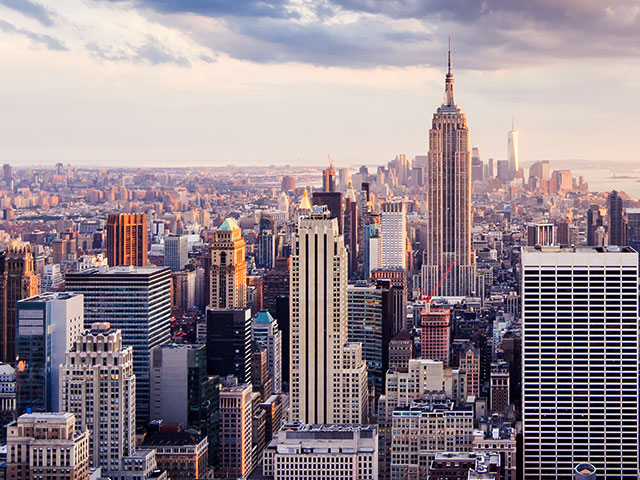 Cityscape view of New York City